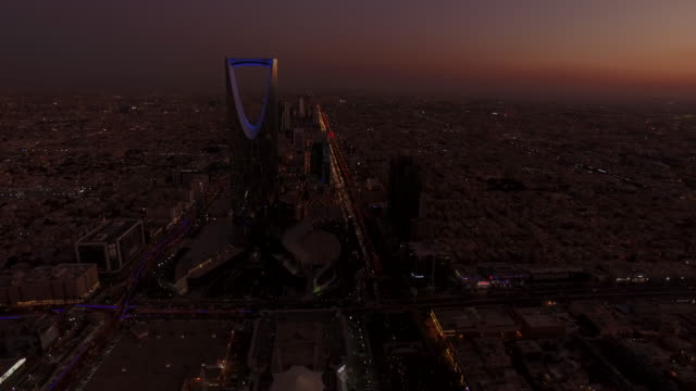 sunset over central riyadh, saudi arabia - saudi arabia stock videos & royalty-free footage