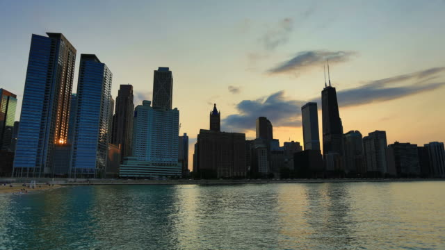 Sunset over Chicago, IL