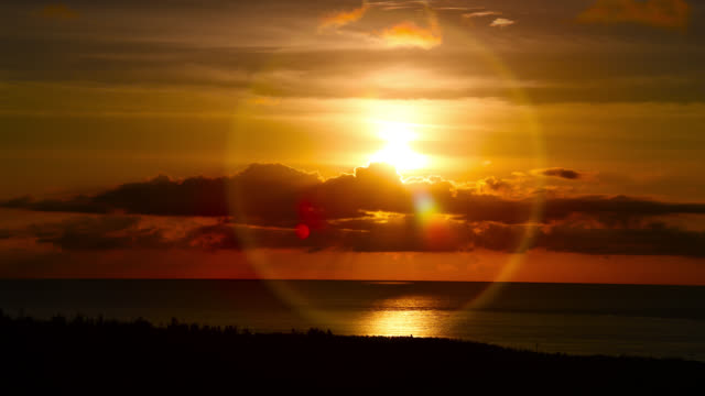 "sunset over coast, japan. - ""bbc natural history"" video stock e b–roll"