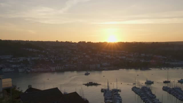 Sunset over Dartmouth Harbour, as seen from Kingswear