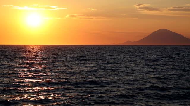 Coucher de soleil sur la mer Ionienne
