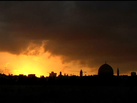 sunset over jerusalem normal speed - the crusades stock videos & royalty-free footage