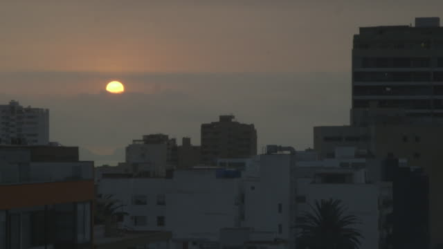 sunset over lima, time lapse - lima stock videos & royalty-free footage