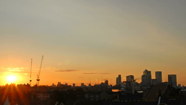 Sunset over London time-lapse