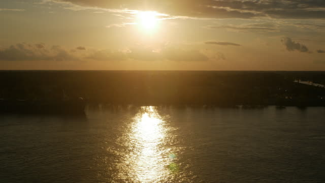 sunset over mississippi river - river mississippi stock videos & royalty-free footage