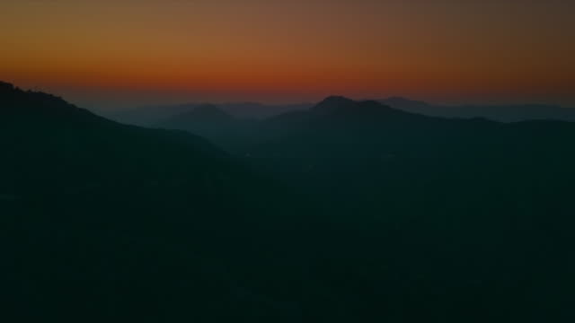 sunset over mountain - horizon over land stock videos & royalty-free footage