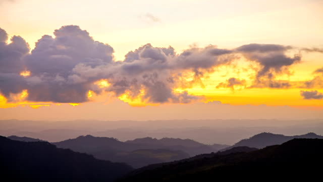 sunset over mountains - horizon over land stock videos & royalty-free footage