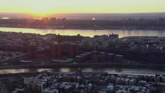 Sunset Over NYC With Two Rivers