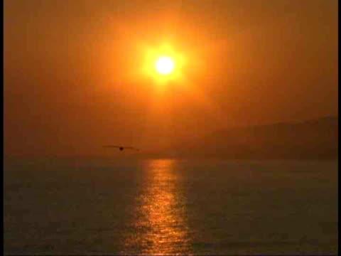 ms, sunset over ocean, malibu, california, usa - malibu stock videos & royalty-free footage
