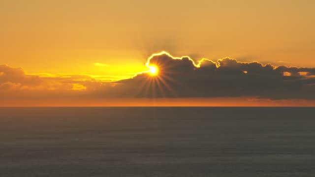 sunset over ocean, ogasawara, japan - pacific ocean stock videos & royalty-free footage