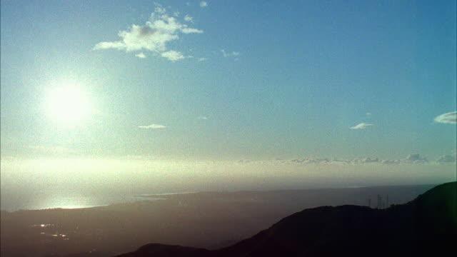 T/L WS Sunset over ocean, Santa Barbara, California, USA