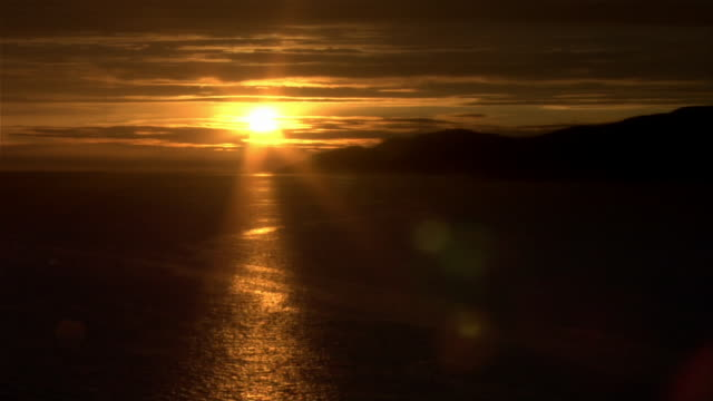 ws, sunset over ocean, vancouver, british columbia, canada - 1 minute or greater stock videos & royalty-free footage
