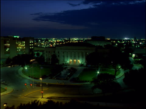 Sunset over Oklahoma City's capitol building