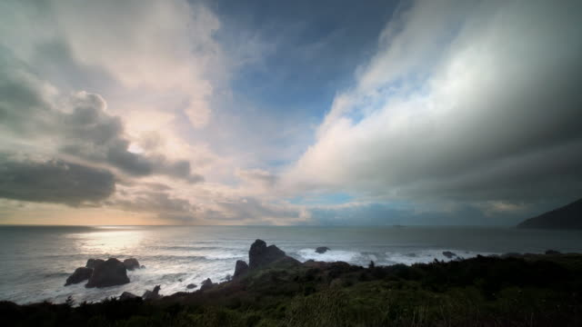 Sunset over Pacific Ocean, Oregon