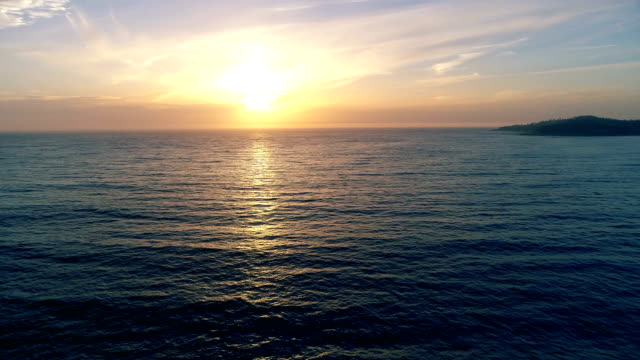 sunset over pacific ocean - coastline stock videos & royalty-free footage