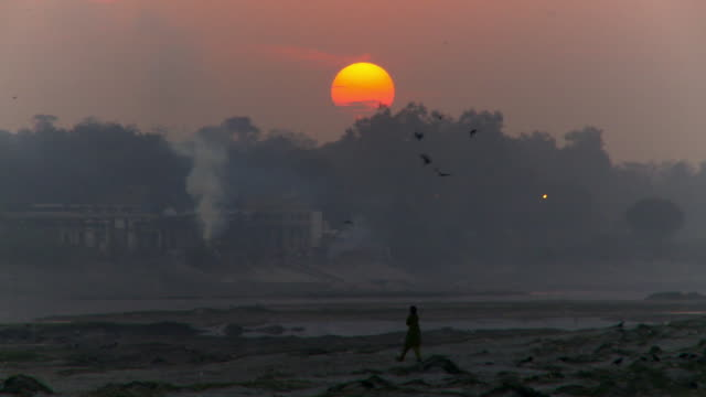 sunset over river bottoms - agra stock videos and b-roll footage