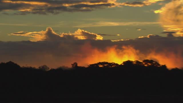 stockvideo's en b-roll-footage met slo mo ms zo ws sunset over river negro / sao gabriel da cachoeira, amazonas, brazil - color negro