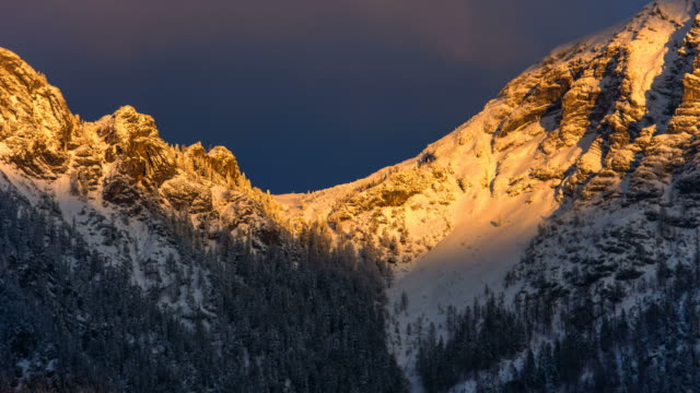 sunset over sarstein - austria stock videos & royalty-free footage