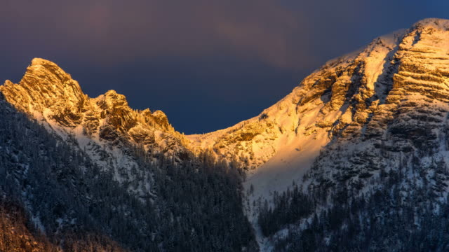 sunset over sarstein - dachstein mountains stock videos and b-roll footage