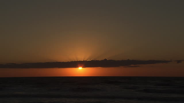 sunset over sea in tomamae, hokkaido, japan - pacific ocean stock videos & royalty-free footage