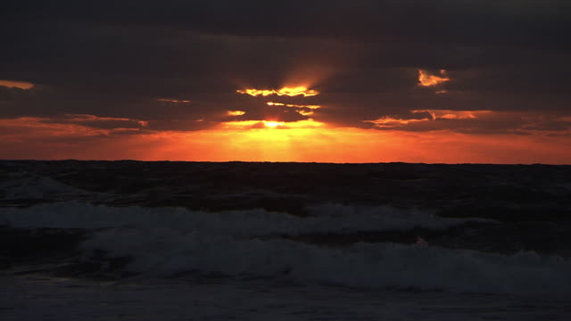 sunset over sea in tomamae, hokkaido, japan - 1 minute or greater stock videos & royalty-free footage