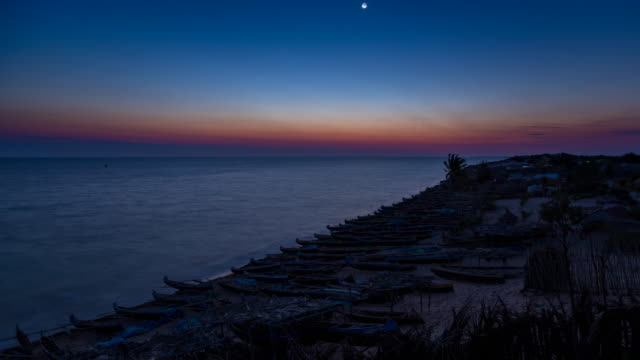 sunset over sea / madagascar, africa - madagascar stock videos & royalty-free footage