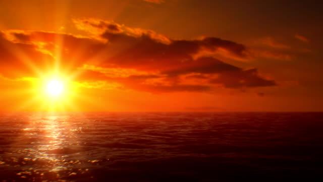 夕暮れ時の水上(ループ)
