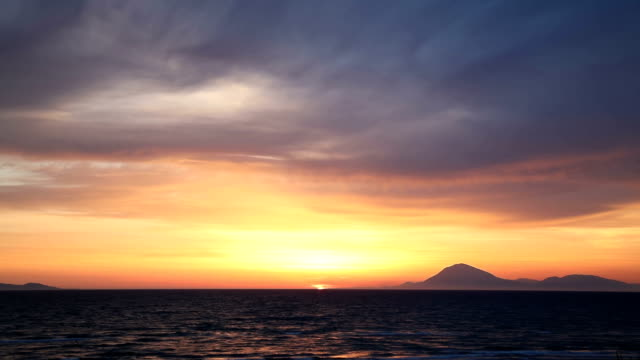sunset over seascape - horizon over water stock videos & royalty-free footage