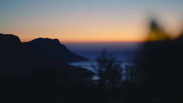 Sunset over South African Coastline