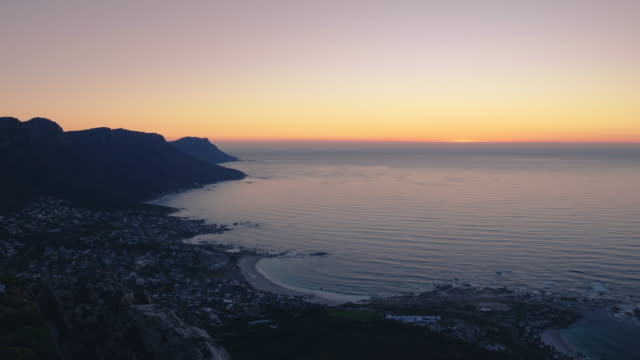 sunset over south african coastline - cape town stock videos & royalty-free footage