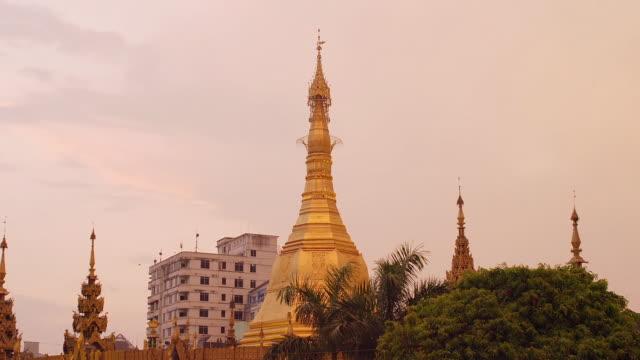 Sunset over Sule Pagoda, Yangon