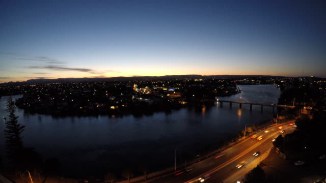 Sunset Over Surfers Paradise in the Gold Coast of Queensland Australia Time Lapse