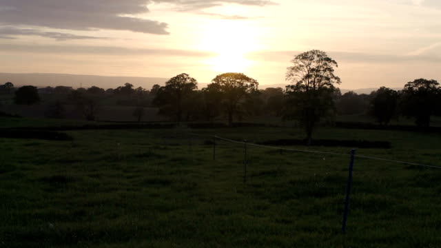 Sunset Over The British Countryside