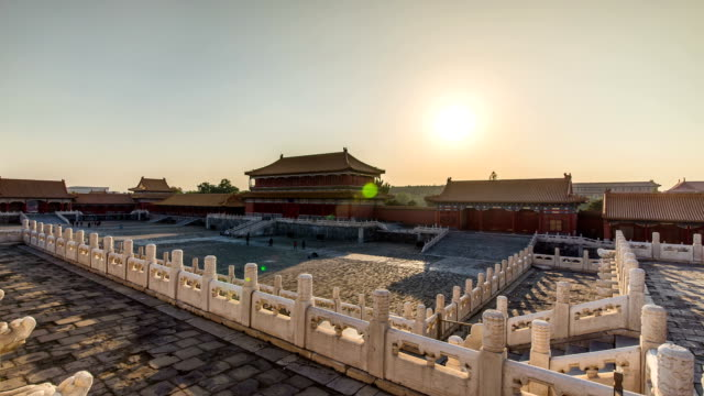 T/L Sunset over the Forbidden City In Beijing
