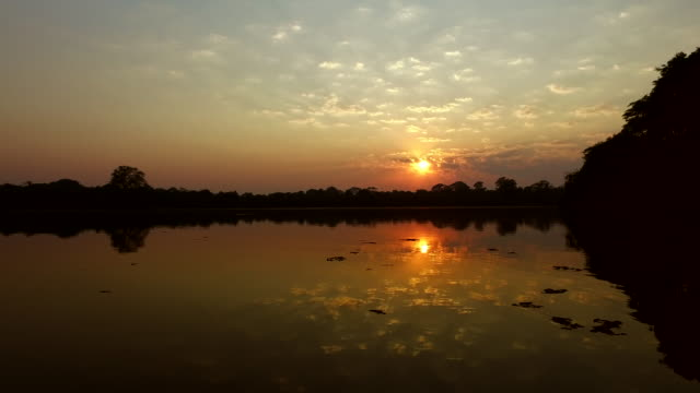 sunset over the lake - fade out stock videos & royalty-free footage