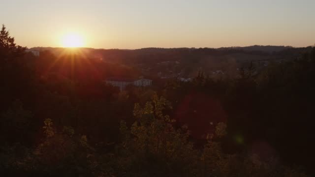 sunset over the land in lynchburg, tennessee, usa - tennessee stock videos & royalty-free footage