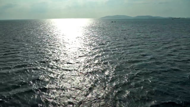 sunset over the marmara sea in istanbul - marmara stock videos and b-roll footage