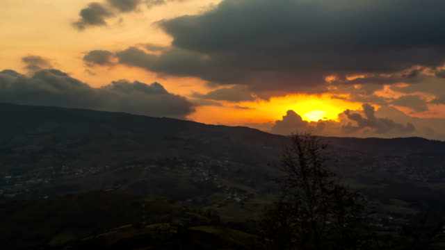 sunset over the mountains - venezuela stock videos & royalty-free footage