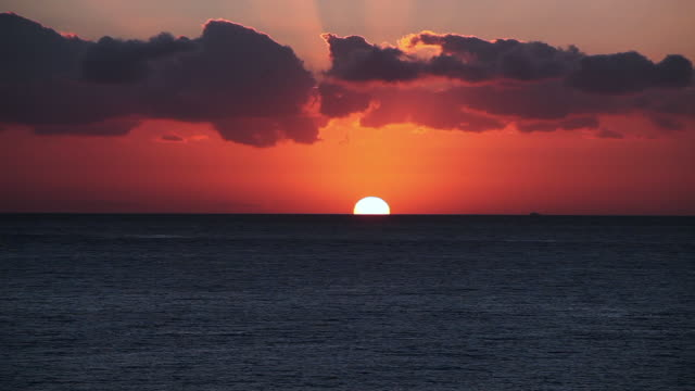 sunset over the ocean - seascape stock videos & royalty-free footage