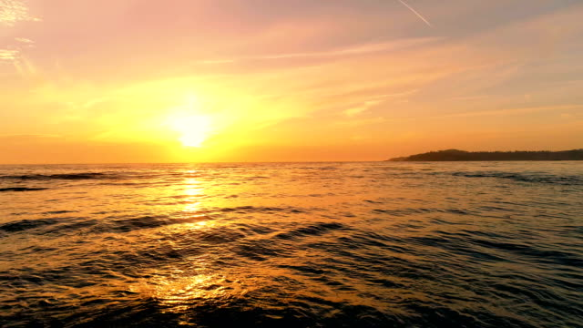 sunset over the ocean - horizon over water stock videos & royalty-free footage