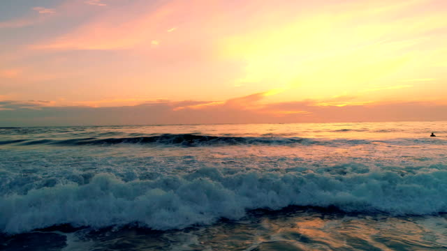 sunset over the ocean - pastel colored stock videos & royalty-free footage