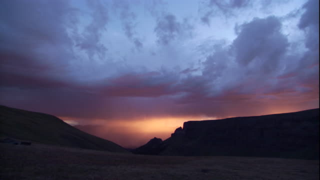 sunset over the rocky mountains, montana. available in hd. - rocky mountains stock videos & royalty-free footage
