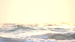 Sunset over the sea, Slow motion