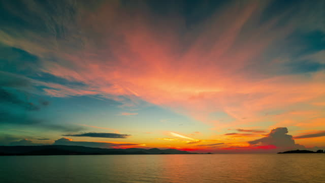 sunset over the sea - ko samui stock videos and b-roll footage