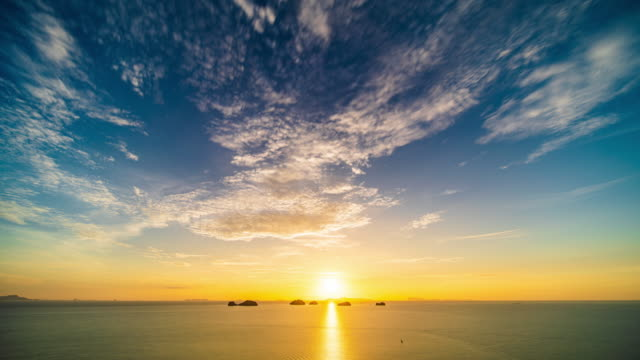 sunset over the sea - seascape stock videos & royalty-free footage