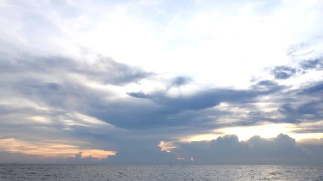 海の夕日 - 低い点の映像素材/bロール