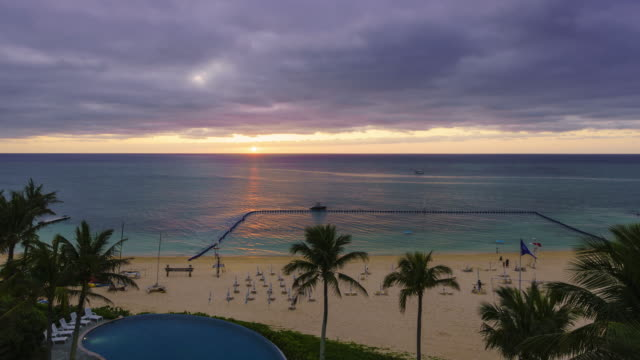sunset over the sea - okinawa prefecture stock videos & royalty-free footage
