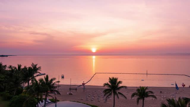 海の夕日  - 星型点の映像素材/bロール