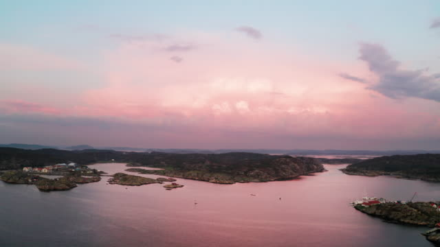 sunset over the west coast in sweden - ledge stock videos & royalty-free footage