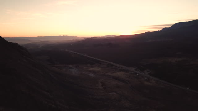sunset over valley - mesa stock videos and b-roll footage